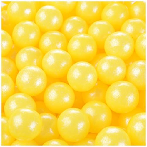 Modecor Zuckerperlen 9mm - Gelb - 50g