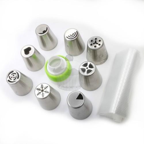 Set russische XL-Spitzen mit Adapter und Taschen - 12 Stück