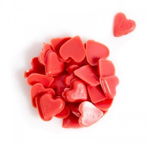 Schokoladendekoration - rote Herzen 10mm - 50g