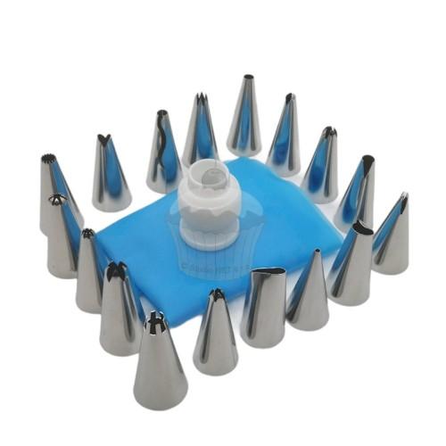 Spritztüllen Set mit Adapter und Beutel- 19 Stück
