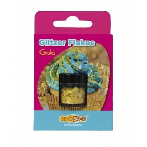DecoCino essbare Glitter Flakes - Gold 2,5g