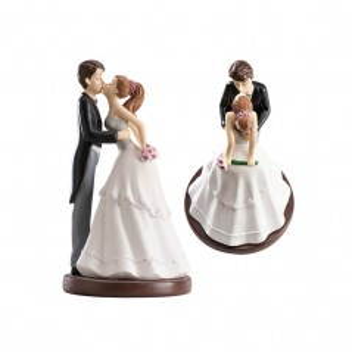 Hochzeitsfiguren - Kuss geneigt