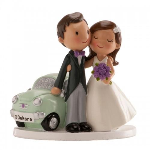 Hochzeitsfiguren - Just Married Car