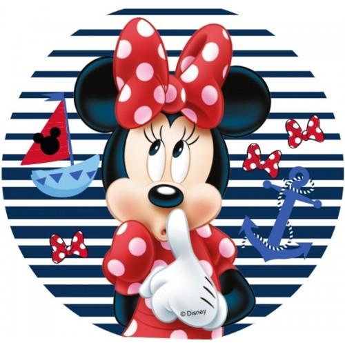 Essbare Papier Round - Minnie - Streifen