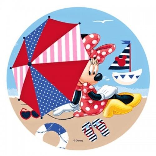 Essbare Papier Round - Minnie - Strand