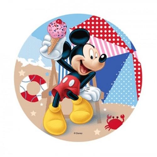 Essbare Papier Round - Mickey Mouse - Strand