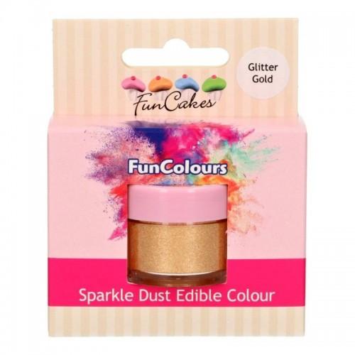 FunColours Puderfarbe Sparkle Dust - Glitter gold - 3,5g