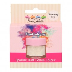 FunColours Puderfarbe Sparkle Dust - Shimmering Gold 4,5g