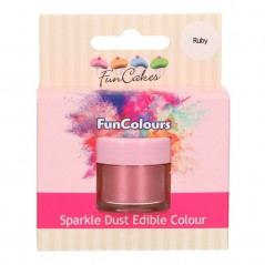 FunColours Puderfarbe Sparkle Dust - Ruby 3g