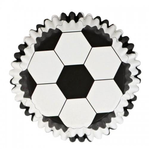 Mit PME-Folie ausgekleidete Backförmchen - Fußball - 30-tlg