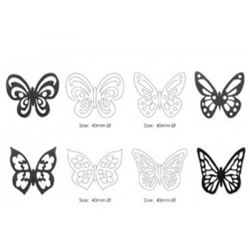Cutter / Marker - Spitze Schmetterling 4St