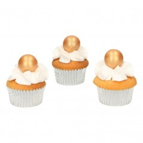 FunCakes pearl choco balls gold - 8st