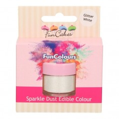 FunColours Puderfarbe Sparkle Dust - Glitter White 3,5g