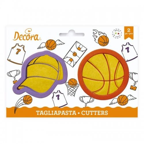 Decora set Ausstecher - Basketball 2St