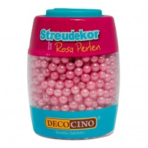 DecoCino Sprinkles - rosa Perlen - 65g