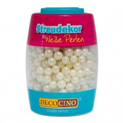 DecoCino Sprinkles - weiss Perlen - 65g